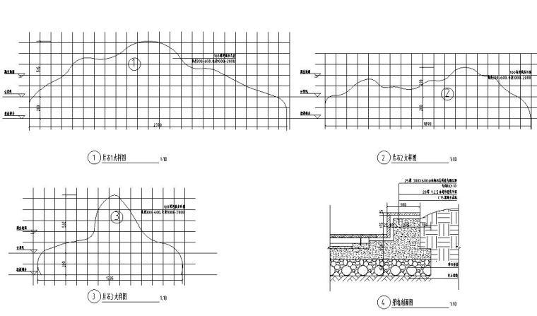 [浙江]新亚洲风格顶豪地产示范区景观施工图-不锈钢树池详图1