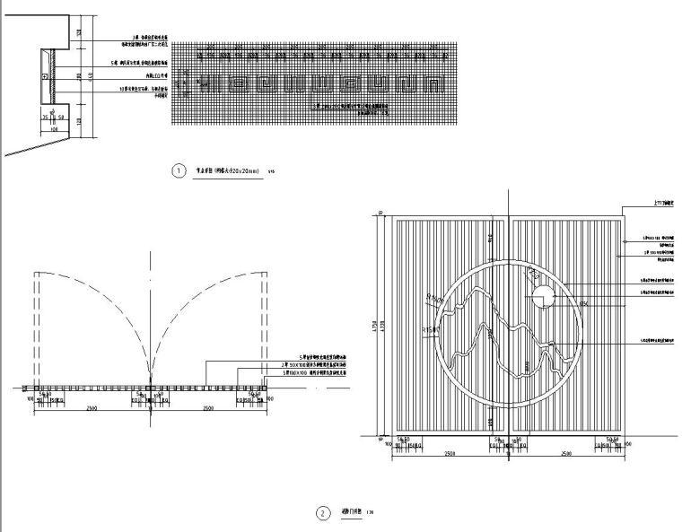 [浙江]新亚洲风格顶豪地产示范区景观施工图-入口门楼详图6