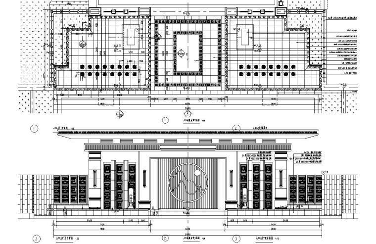 [浙江]新亚洲风格顶豪地产示范区景观施工图-入口涌泉水景详图