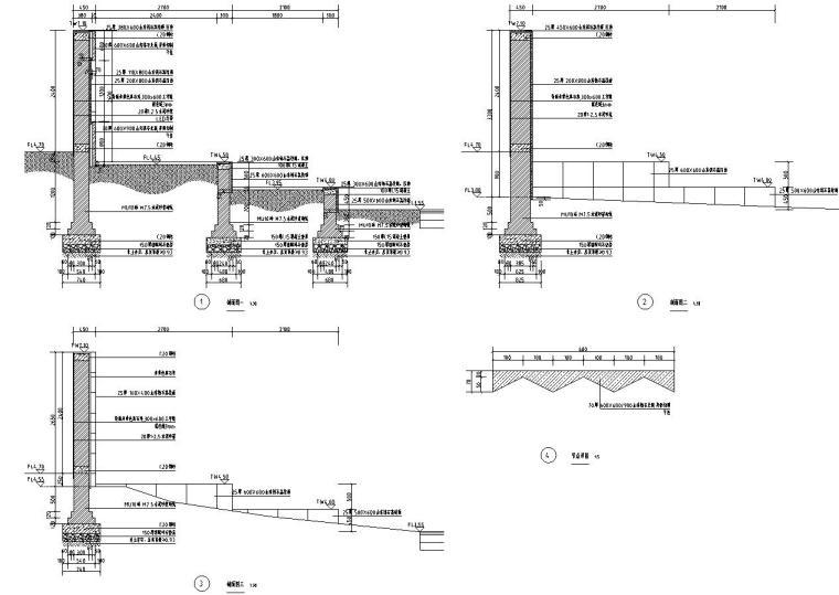 [浙江]新亚洲风格顶豪地产示范区景观施工图-入口展示景墙1