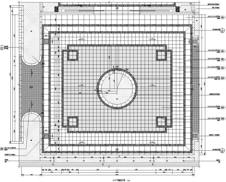 [浙江]杭州现代风示范区景观CAD全套施工图-入口区景观详图设计1