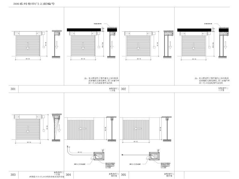 [上海]浦东商业办公综合体建筑项目施工图-卷帘门立面图