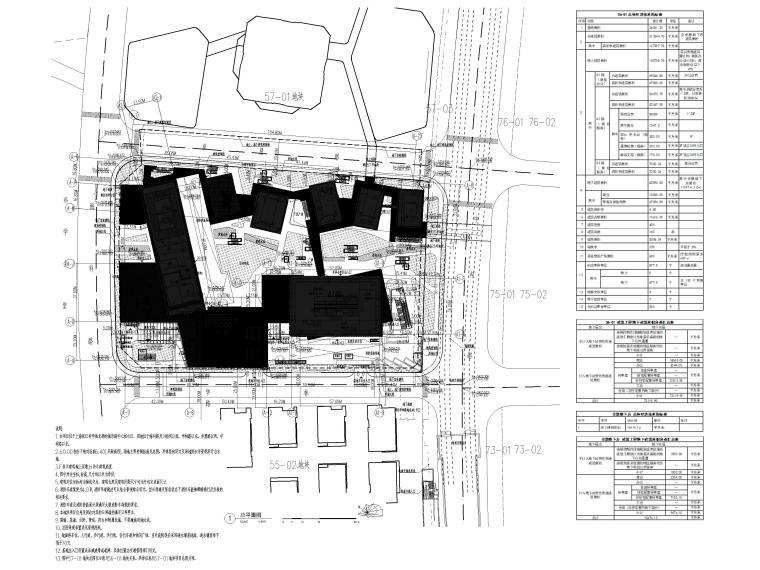 [上海]浦东商业办公综合体建筑项目施工图-总平图