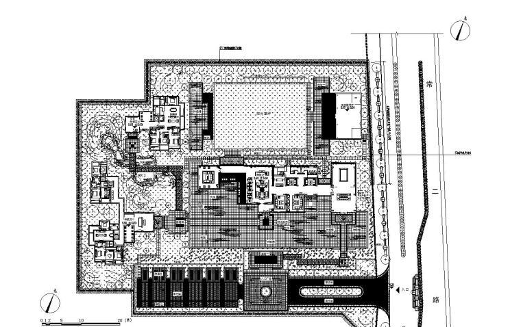 [浙江]杭州现代风示范区景观CAD全套施工图-01 总平面图