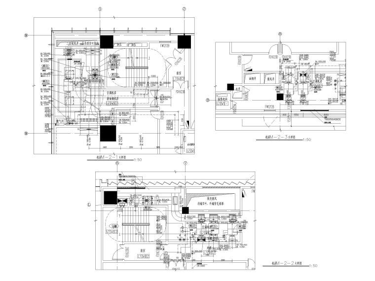 苏州五星级酒店_甲级写字楼暖通施工图2018-裙房机房大样图一