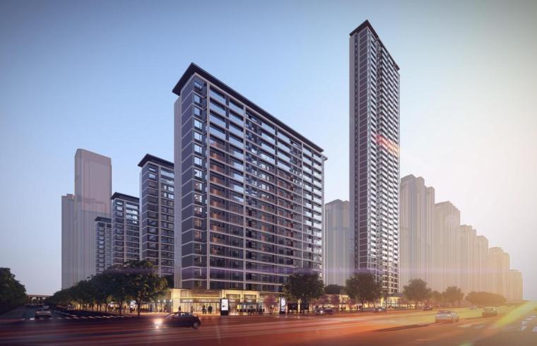 徐州新中式洋房+高层住宅建筑方案