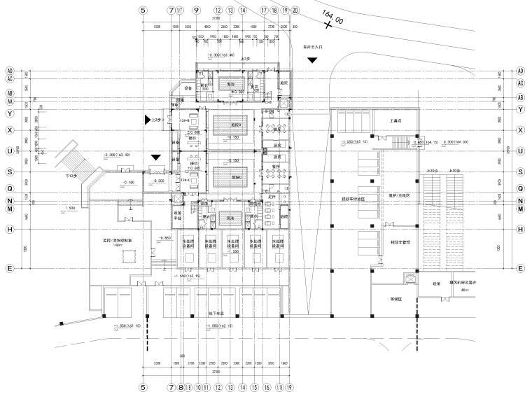 [浙江]北山旅游度假小镇民宿建筑施工图-12#楼一层平面图