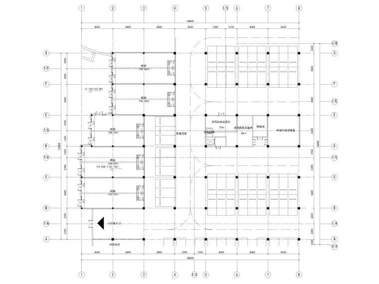 [浙江]北山旅游度假小镇民宿建筑施工图-9#楼屋顶层平面图