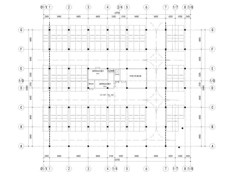 [浙江]北山旅游度假小镇民宿建筑施工图-8#楼屋顶层平面图
