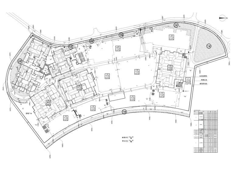[浙江]北山旅游度假小镇民宿建筑施工图-总平面图