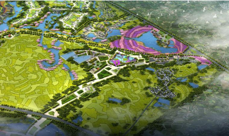 [湖北]孝感美丽乡村概念规划设计方案-首开区鸟瞰图