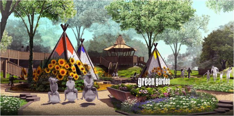[湖北]孝感美丽乡村概念规划设计方案-伊甸通话乐园效果图