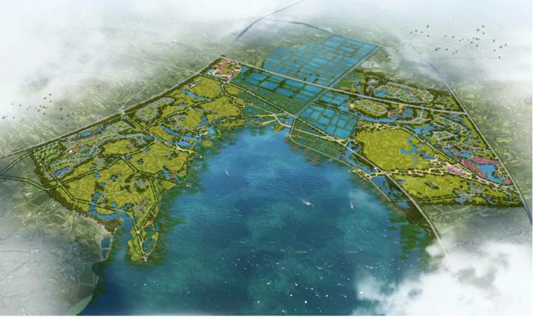 [湖北]孝感美丽乡村概念规划设计方案-总体鸟瞰图