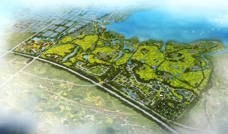 [湖北]孝感美丽乡村概念规划设计方案-分期开发二期鸟瞰图