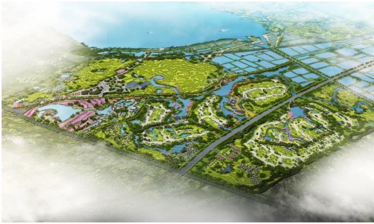 [湖北]孝感美丽乡村概念规划设计方案-分期开发一期鸟瞰