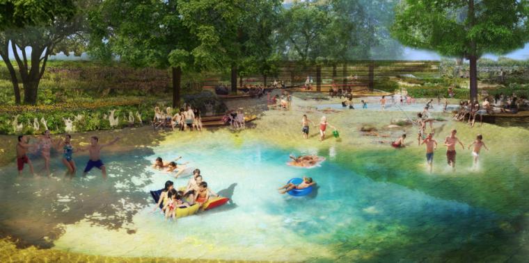 [湖北]孝感美丽乡村概念规划设计方案-亲水运动区效果图