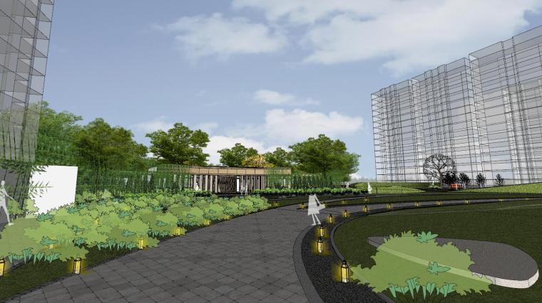 [杭州]现代风格中央公园样板房建筑模型_6