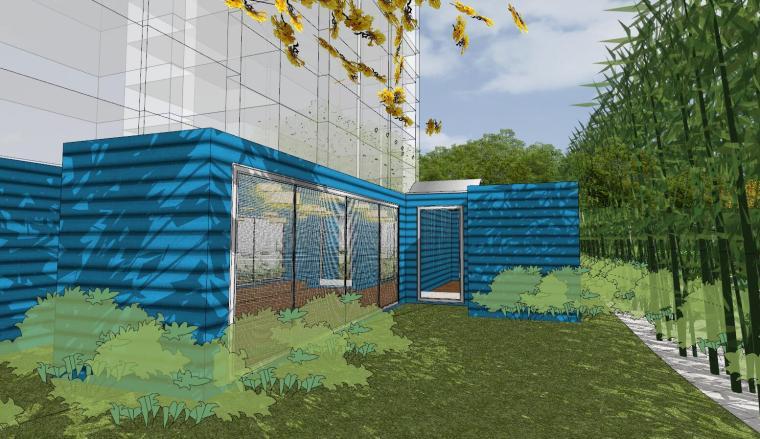 [杭州]现代风格中央公园样板房建筑模型_2