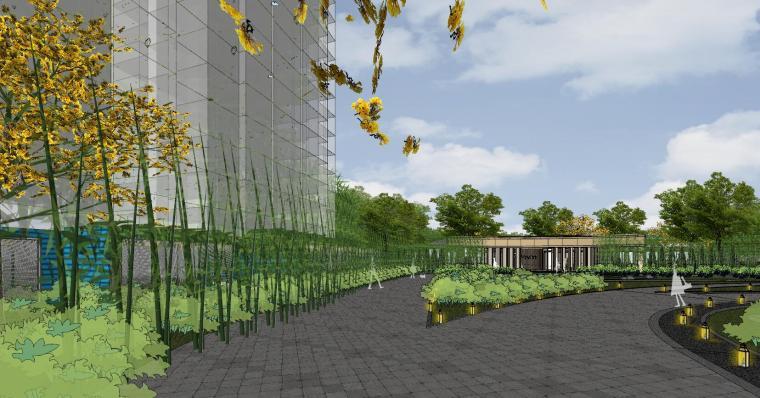[杭州]现代风格中央公园样板房建筑模型_13