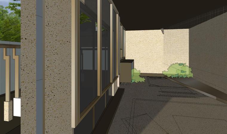 [杭州]现代风格中央公园样板房建筑模型_14