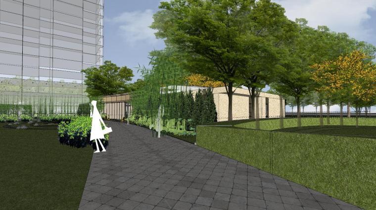 [杭州]现代风格中央公园样板房建筑模型_15