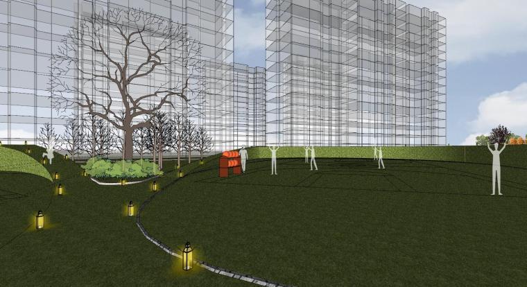 [杭州]现代风格中央公园样板房建筑模型_7