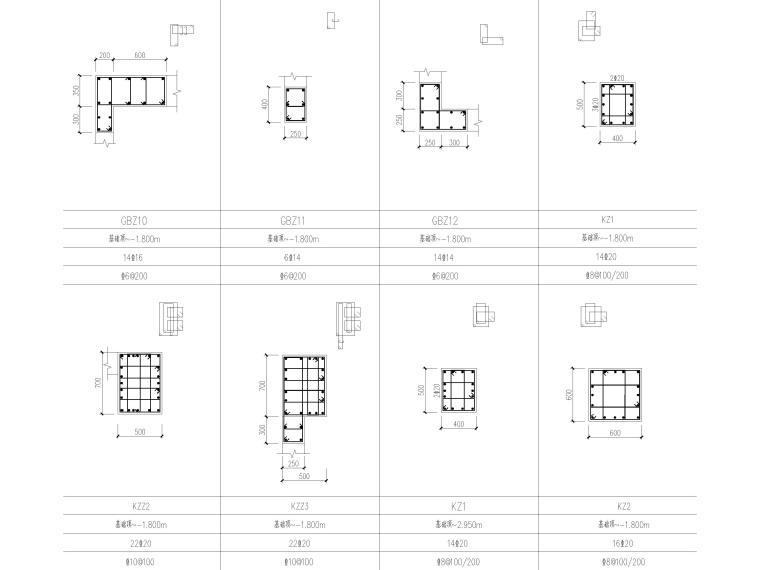 [贵州]3栋框支剪力墙结构商业住宅结施2020_5