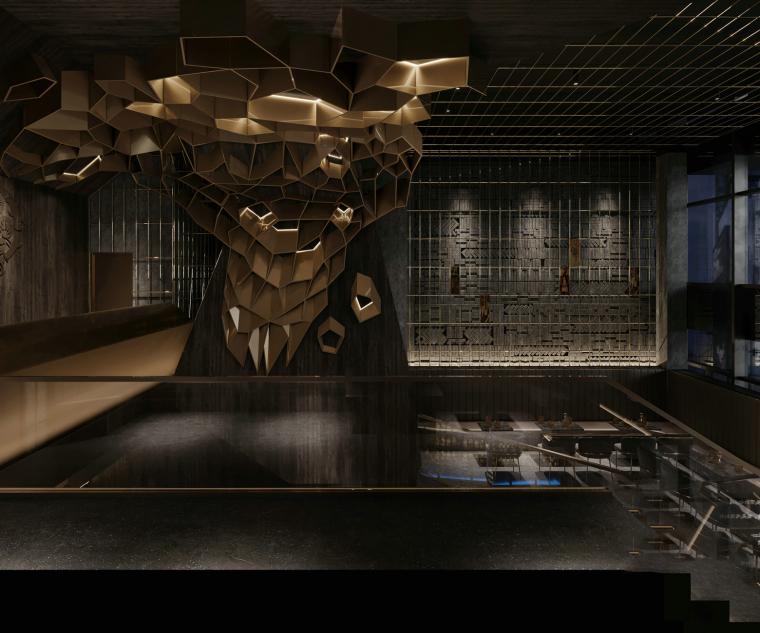 现代音乐酒吧清吧餐厅3d模型+效果图_2