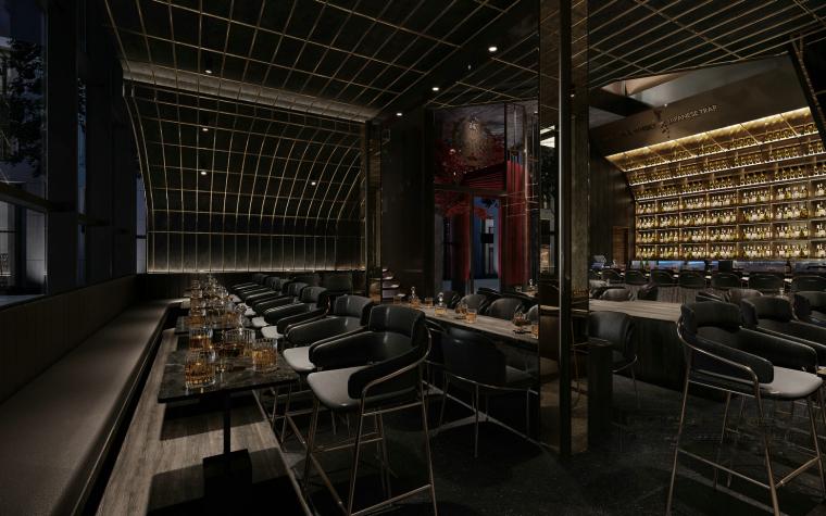 现代音乐酒吧清吧餐厅3d模型+效果图_3