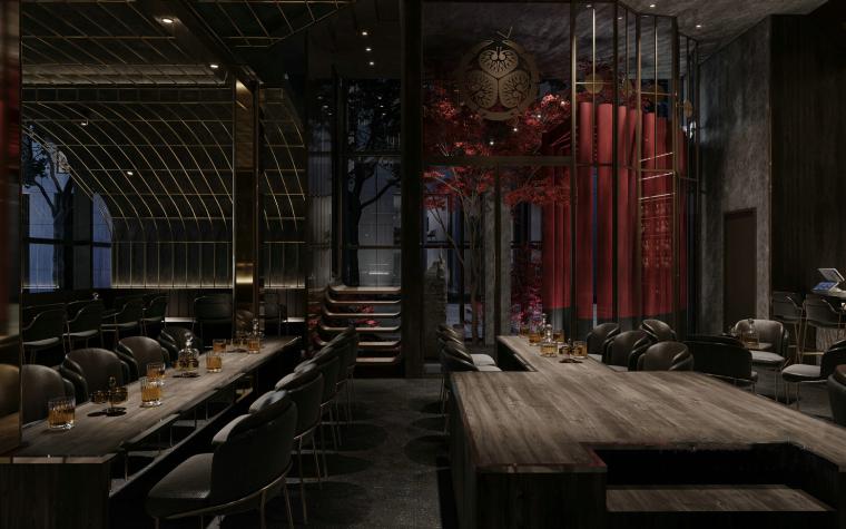 现代音乐酒吧清吧餐厅3d模型+效果图_4
