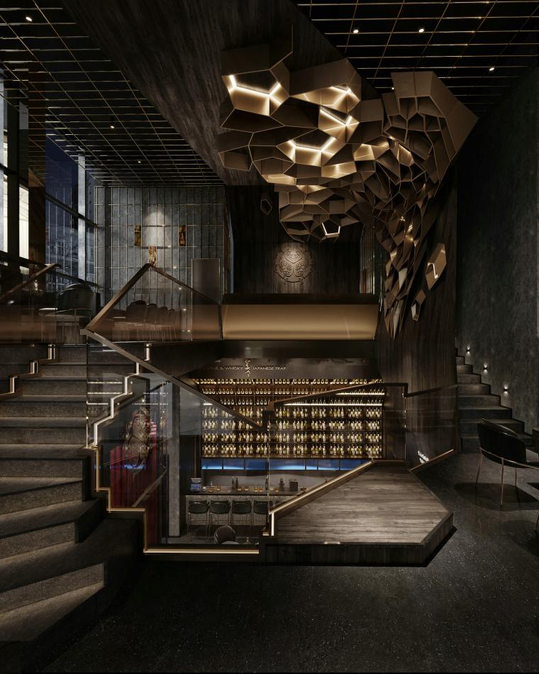 现代音乐酒吧清吧餐厅3d模型+效果图_5
