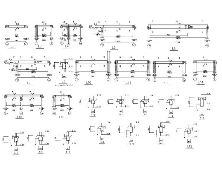 三层砖混结构别墅设计施工图(CAD)-节点大样图
