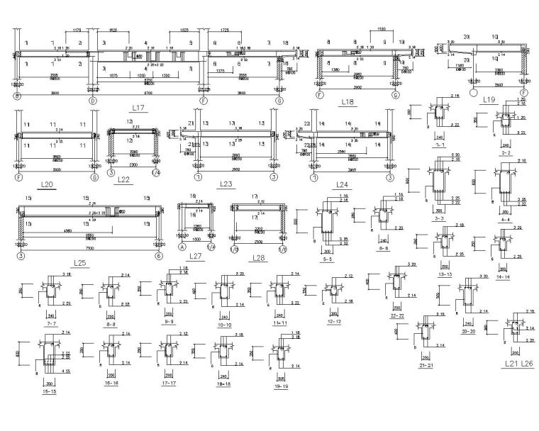 三层砖混结构别墅设计施工图(CAD)-节点大样图2