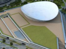 钢结构外圈上部索膜结构体育场施工汇报PPT