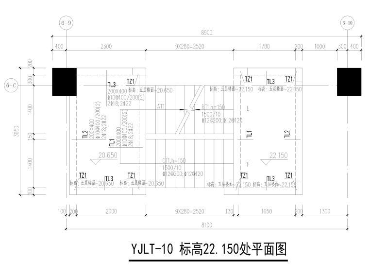 [深圳]7层框架少墙结构医技楼结施图2019_5