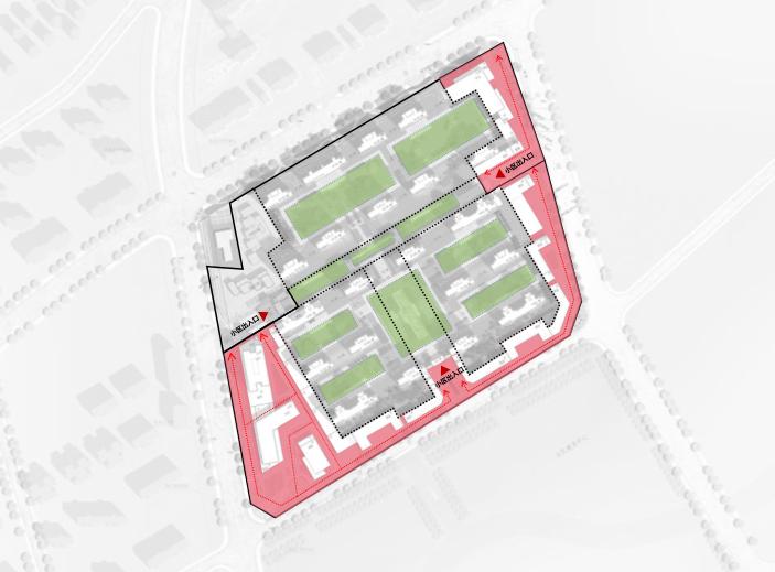 武汉某创塔子湖高层住宅_公寓塔楼方案文本-方案二公共空间分析