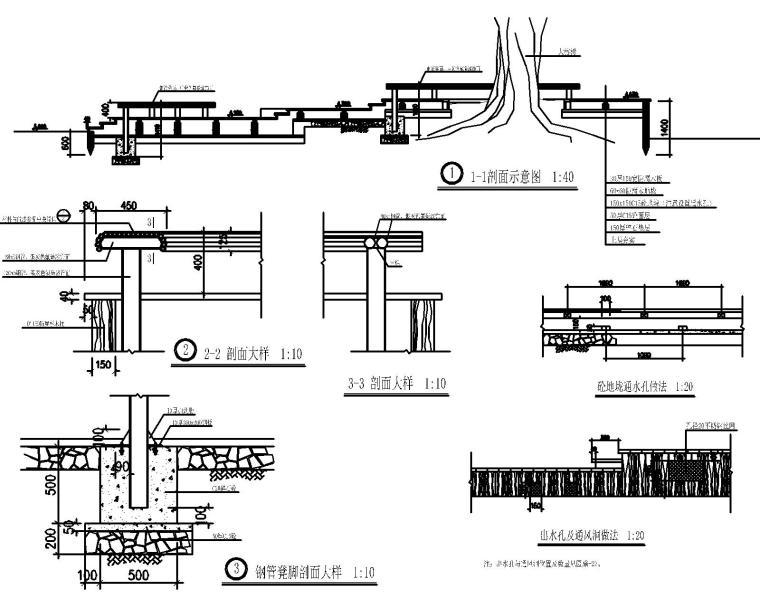 50套室外台阶坡道CAD施工图块_1