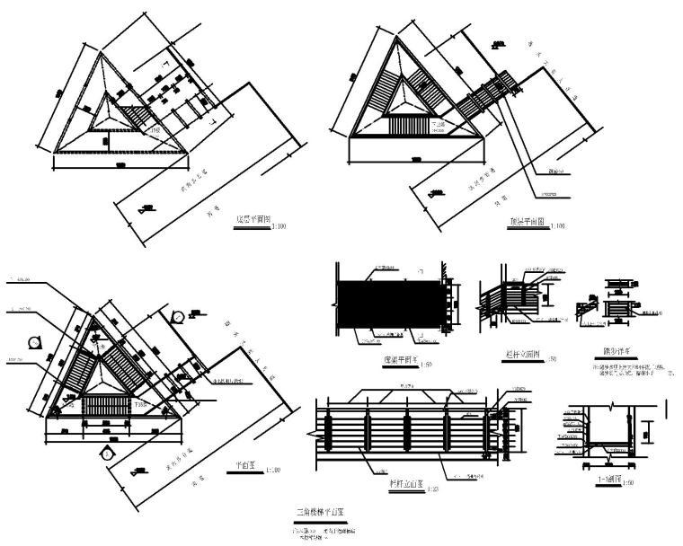 50套室外台阶坡道CAD施工图块_5