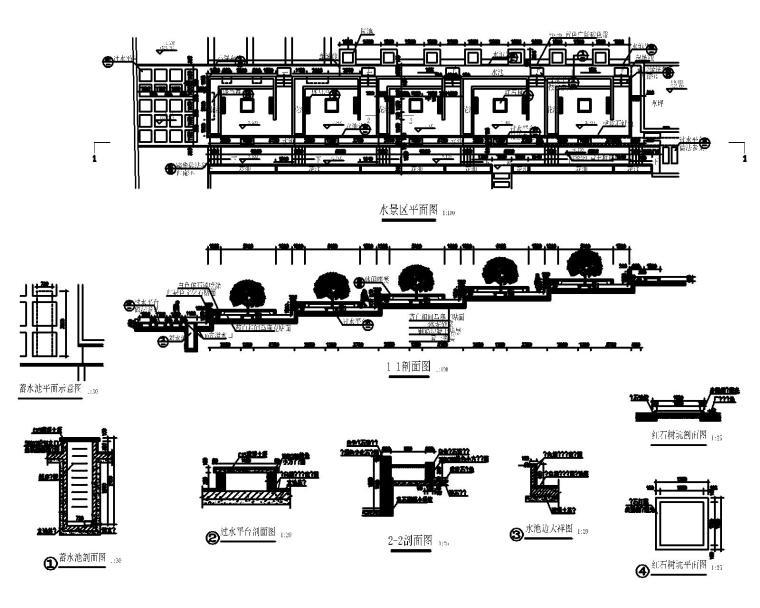 50套室外台阶坡道CAD施工图块_6