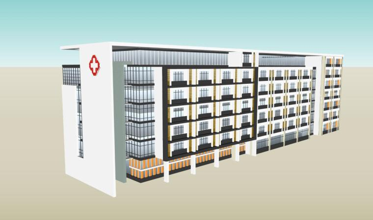 医院建筑设计精细sketchup模型14个_14