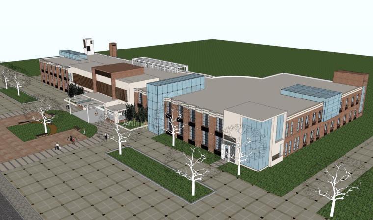 医院建筑设计精细sketchup模型14个_1