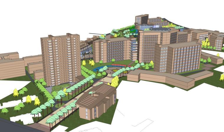 医院建筑设计精细sketchup模型14个_10