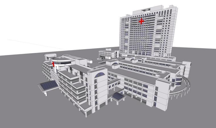 医院建筑设计精细sketchup模型14个_7