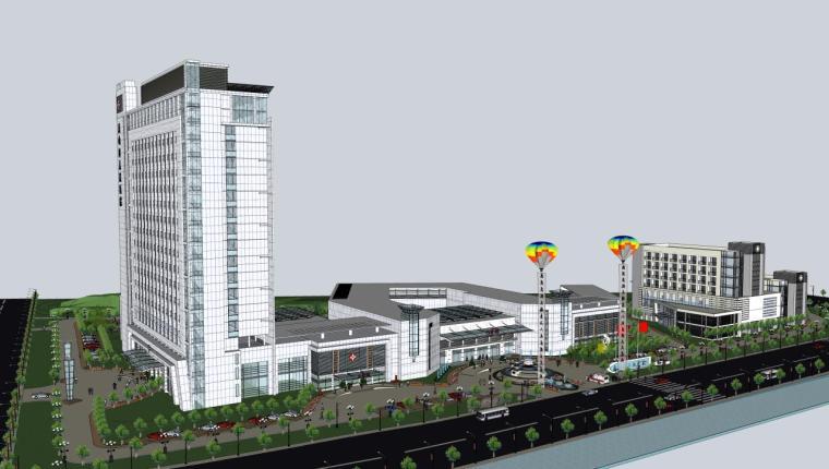 医院建筑设计精细sketchup模型14个_13