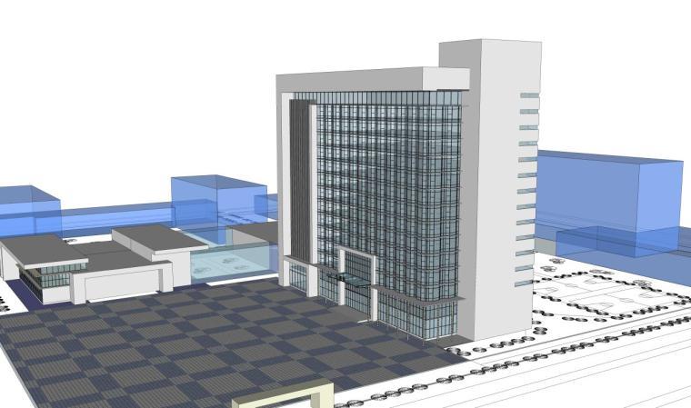 医院建筑设计精细sketchup模型14个_4