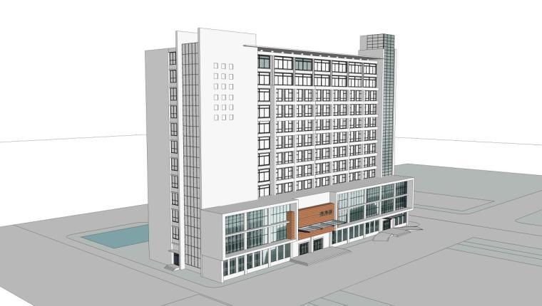 医院建筑设计精细sketchup模型14个_8