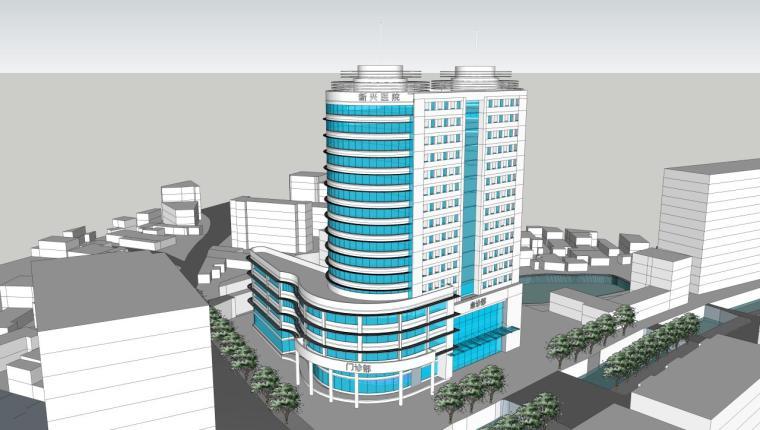 医院建筑设计精细sketchup模型14个_9