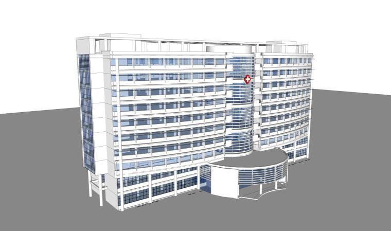 医院建筑设计精细sketchup模型14个_12
