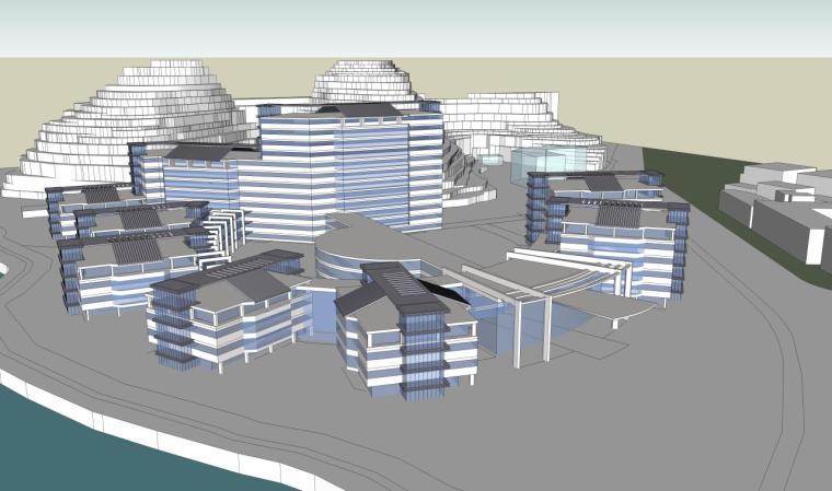 医院建筑设计精细sketchup模型14个_3