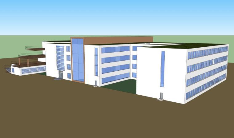 医院建筑设计精细sketchup模型14个_11